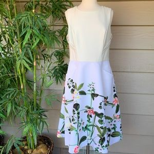 Ted Baker London Cream Floral Dress w/ Pockets